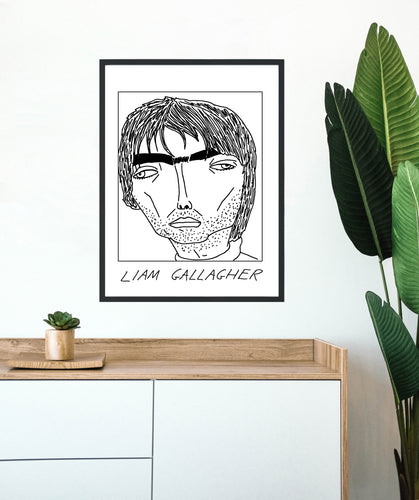 Badly Drawn Liam Gallagher - Poster - BUY 2 GET 3RD FREE ON ALL PRINTS