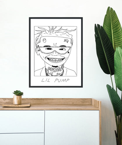 Badly Drawn Lil Pump - Poster - BUY 2 GET 3RD FREE ON ALL PRINTS