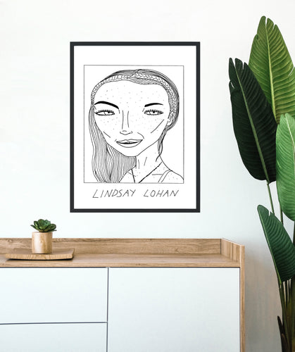 Badly Drawn Lindsay Lohan - Poster - BUY 2 GET 3RD FREE ON ALL PRINTS