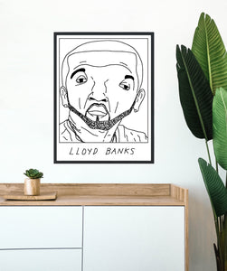 Badly Drawn Lloyd Banks - Poster - BUY 2 GET 3RD FREE ON ALL PRINTS