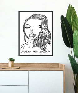 "Badly Drawn Megan Thee Stallion - Print - A3 - ""BUY 4 PRINTS, GET THE 5TH FREE!"""