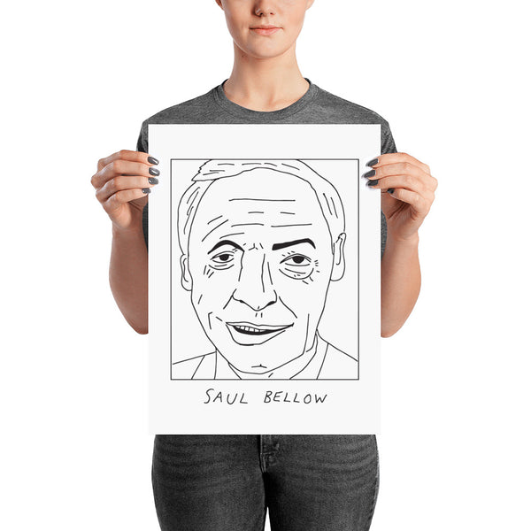Badly Drawn Saul Bellow - Poster