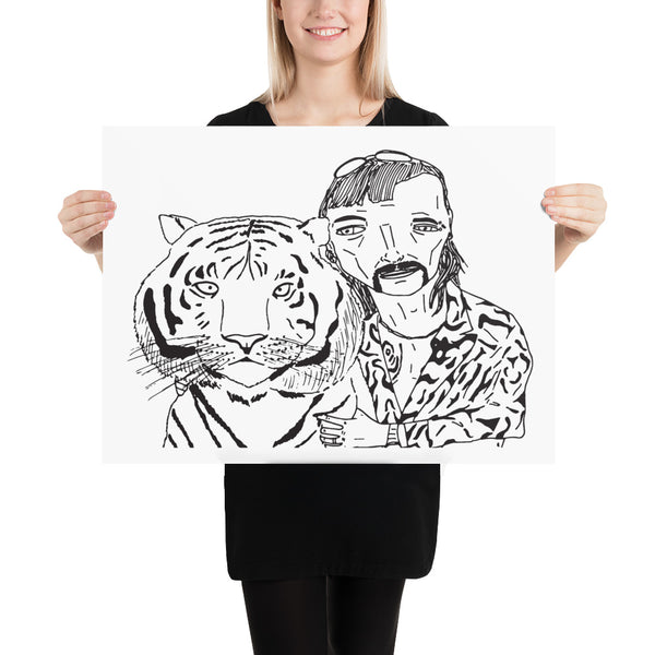 Badly Drawn Joe Exotic - Tiger King Poster