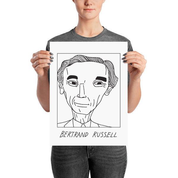 Badly Drawn Bertrand Russell - Poster