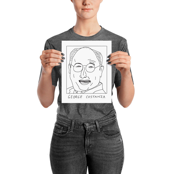 Badly Drawn George Costanza - Seinfeld - Poster