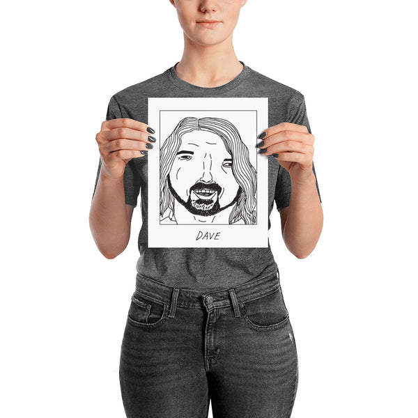 Badly Drawn Dave Grohl - Poster
