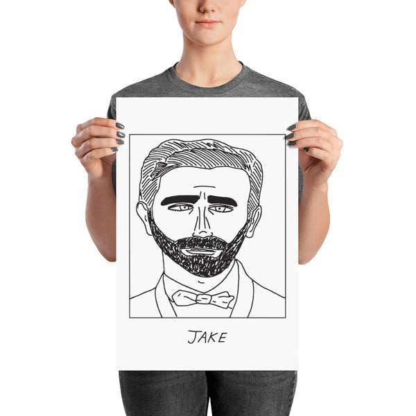 Badly Drawn Jake Gyllenhall - Poster