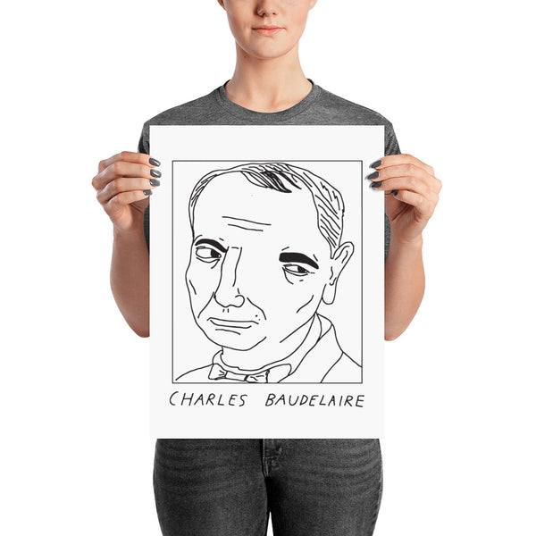 Badly Drawn Charles Baudelaire - Poster