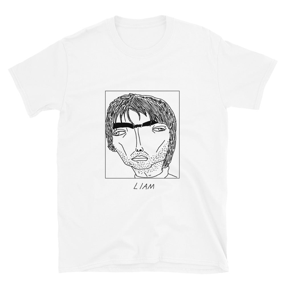 Badly Drawn Liam Gallagher / Oasis - Unisex T-Shirt - Badly Drawn Celebs x Shit Indie Disco