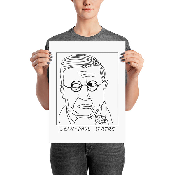 Badly Drawn Jean-Paul Sartre - Poster