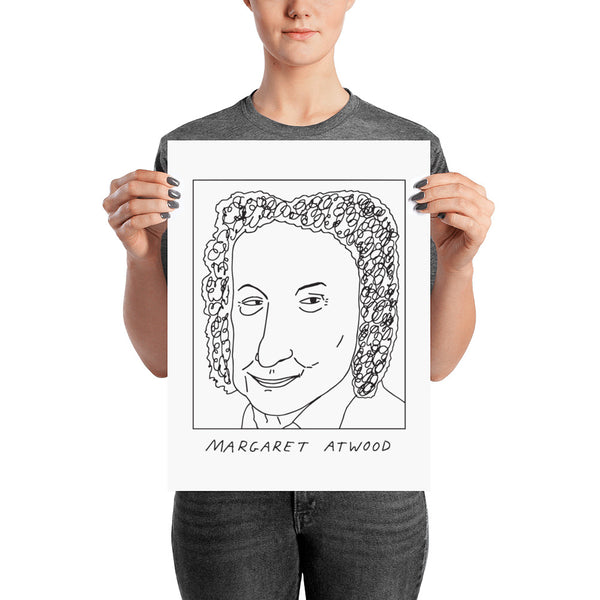 Badly Drawn Margaret Atwood - Poster