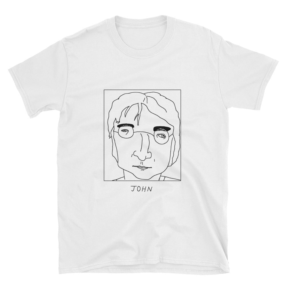 Badly Drawn John Lennon - The Beatles - Unisex T-Shirt