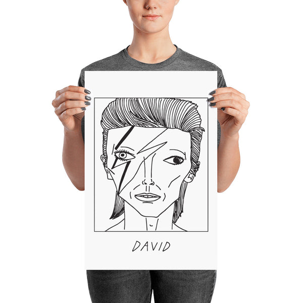 Badly Drawn David Bowie - Poster