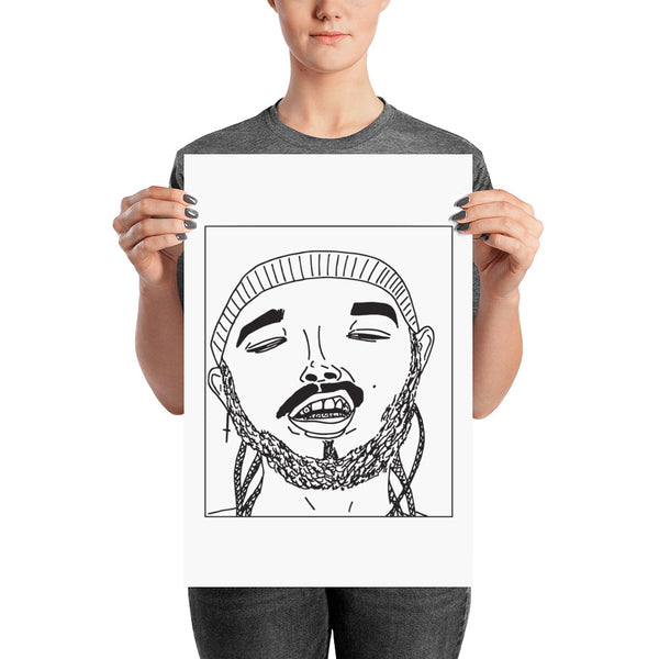 Badly Drawn Post Malone - Poster