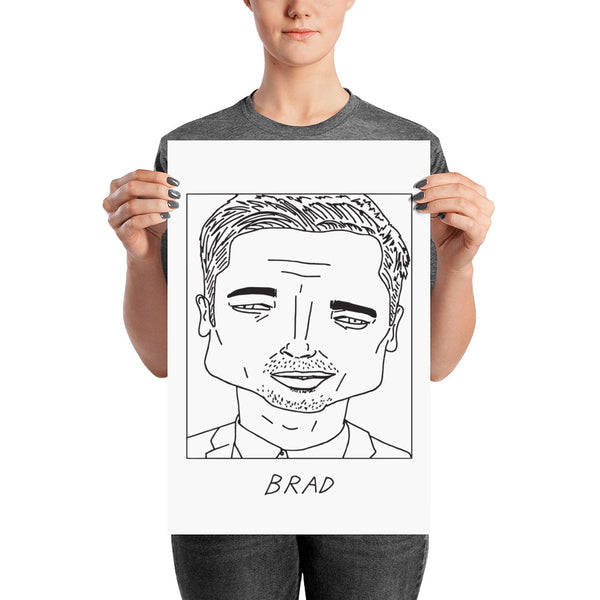 Badly Drawn Brad Pitt - Poster