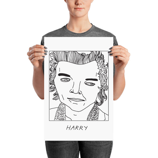 Badly Drawn Harry Styles - Poster