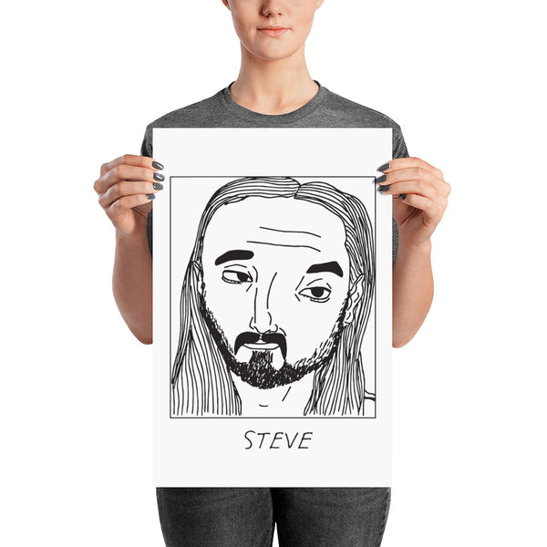 Badly Drawn Steve Aoki - Poster