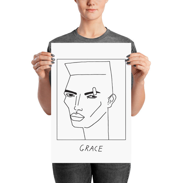 Badly Drawn Grace Jones - Poster