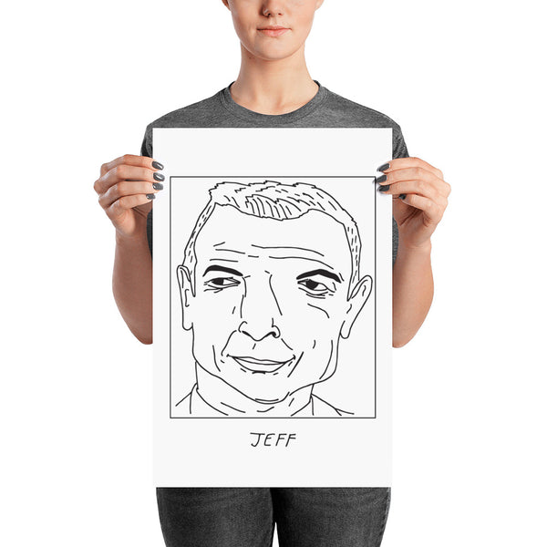 Badly Drawn Jeff Goldblum - Poster