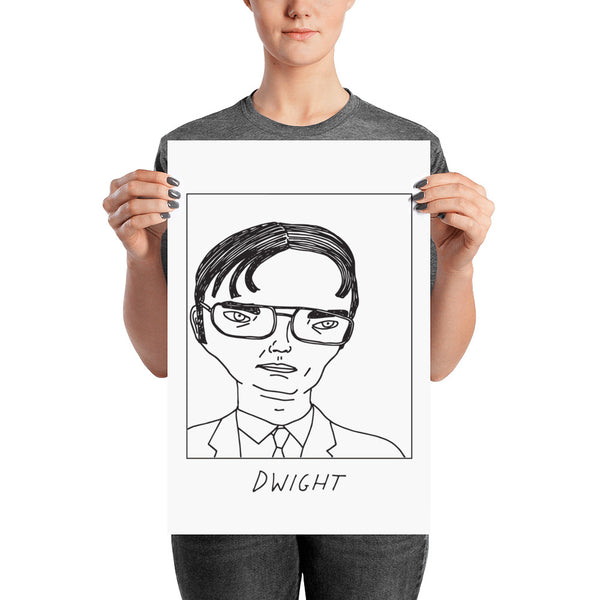 Badly Drawn Dwight Schrute - The Office - Poster
