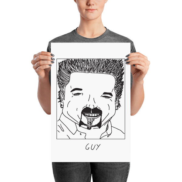 Badly Drawn Guy Fieri - Poster