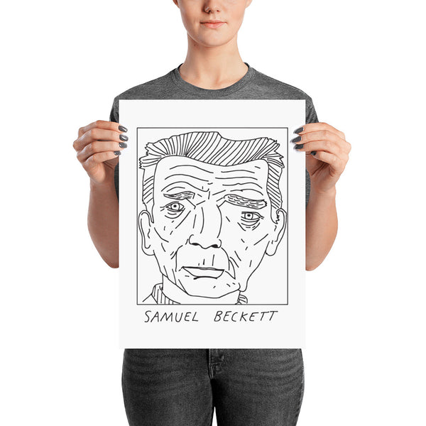 Badly Drawn Samuel Beckett - Poster