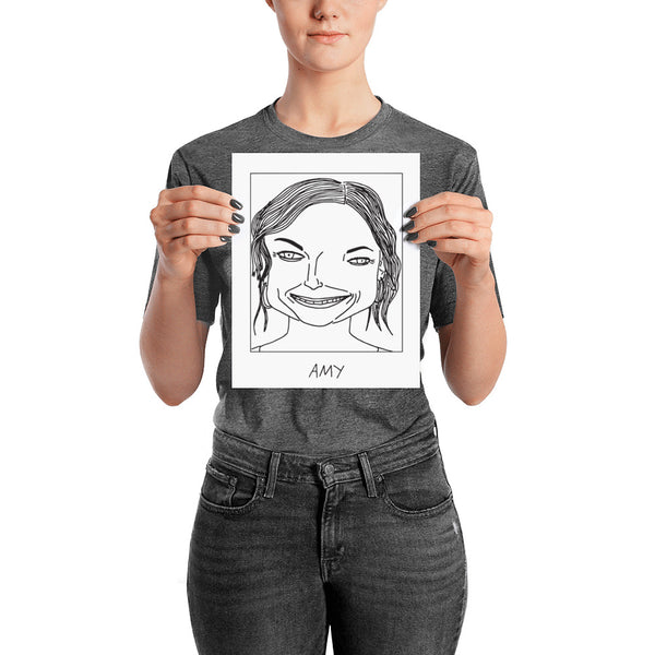 Badly Drawn Amy Poehler - Poster