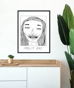 Badly Drawn Molly Baz - Poster - BUY 2 GET 3RD FREE ON ALL PRINTS