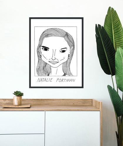 Badly Drawn Natalie Portman - Poster - BUY 2 GET 3RD FREE ON ALL PRINTS