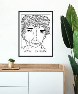 Badly Drawn Neil Gaiman - Poster - BUY 2 GET 3RD FREE ON ALL PRINTS