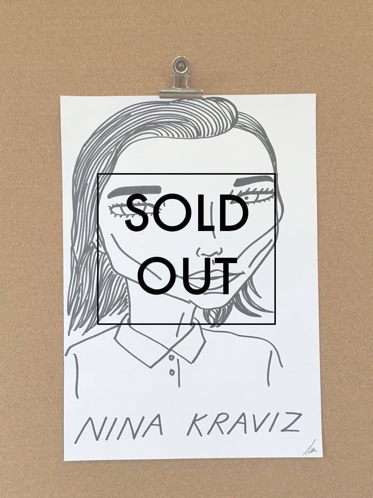 SOLD - Badly Drawn Nina Kraviz - Original Drawing - A3.