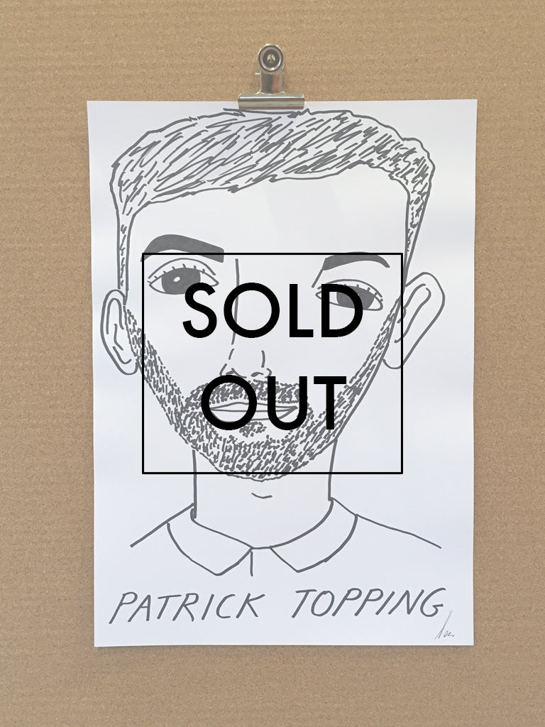 Badly Drawn Patrick Topping - Original Drawing - A3.
