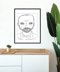 Badly Drawn Paul Giamatti - Poster - BUY 2 GET 3RD FREE ON ALL PRINTS