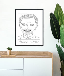 Badly Drawn Prince Harry - Poster - BUY 2 GET 3RD FREE ON ALL PRINTS