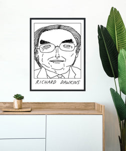 Badly Drawn Richard Dawkins - Poster - BUY 2 GET 3RD FREE ON ALL PRINTS