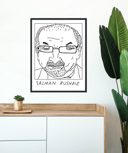 Badly Drawn Salman Rushdie - Poster - BUY 2 GET 3RD FREE ON ALL PRINTS