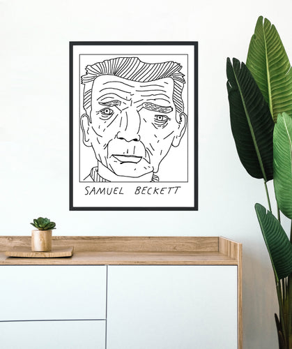 Badly Drawn Samuel Beckett - Poster - BUY 2 GET 3RD FREE ON ALL PRINTS