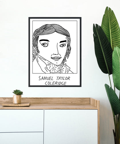 Badly Drawn Samuel Taylor Coleridge - Poster - BUY 2 GET 3RD FREE ON ALL PRINTS