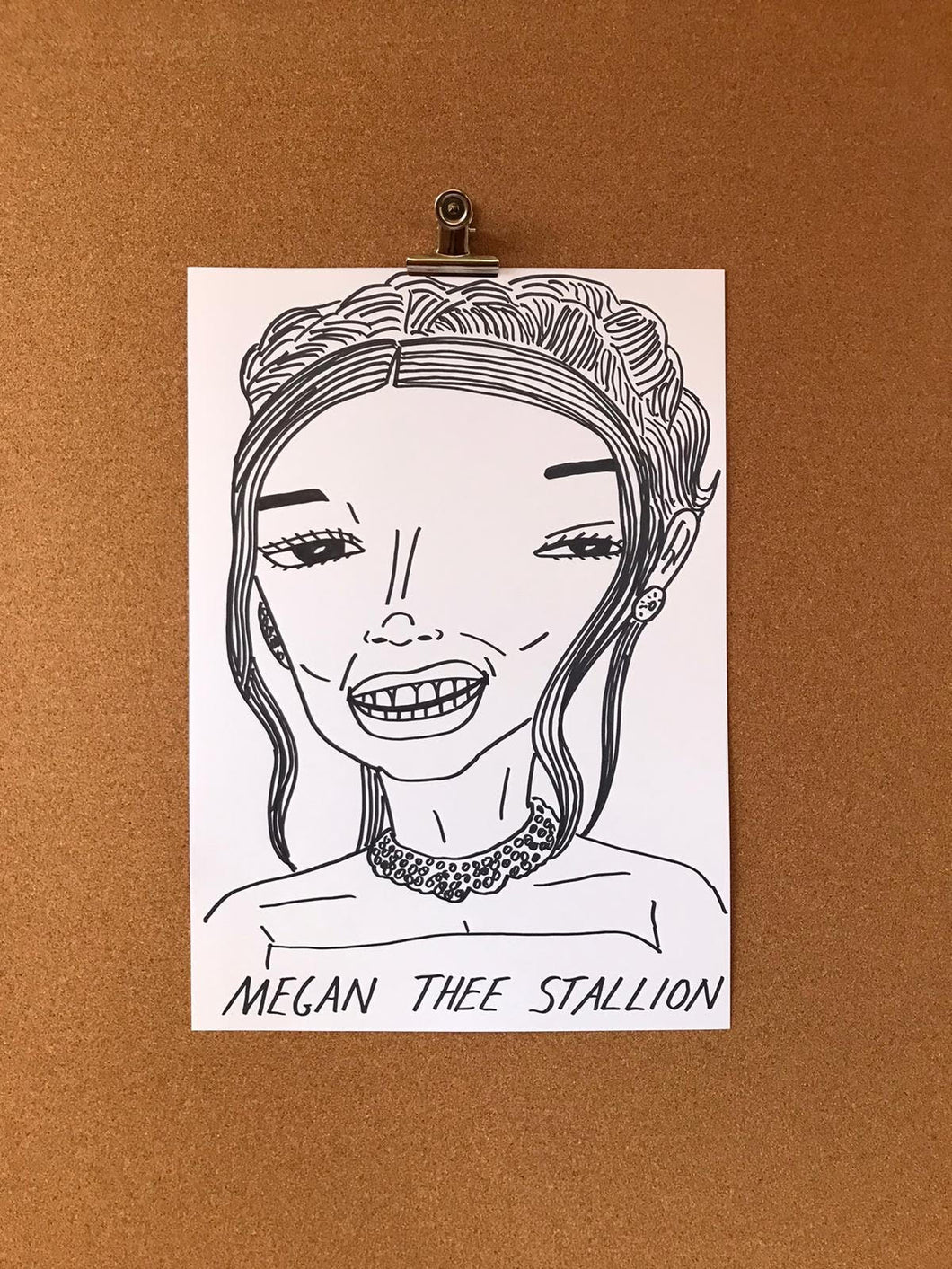Badly Drawn Celebs - Megan Thee Stallion - Grammys 2021 (Original Artwork - A3)