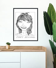 Badly Drawn Celebs - Zooey Deschanel - Poster - BUY 2 GET 3RD FREE ON ALL PRINTS