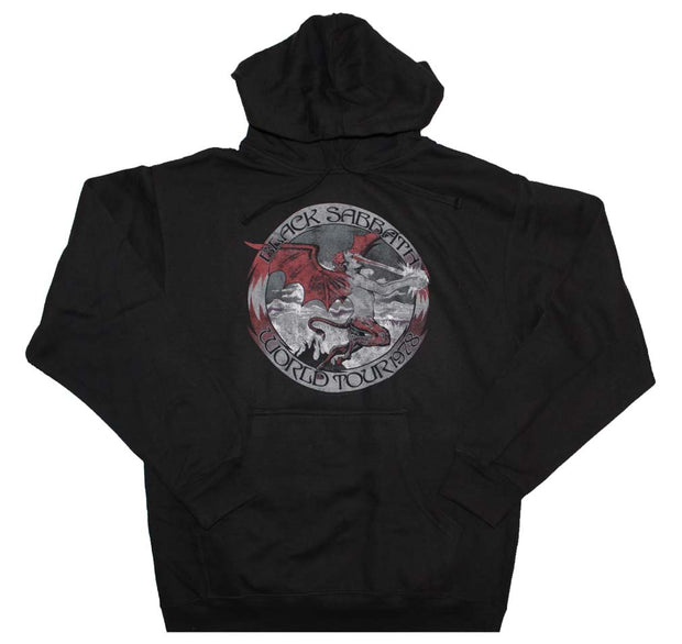 Black Sabbath Tour 78 Pullover Hooded Sweatshirt - Rockteez Apparel