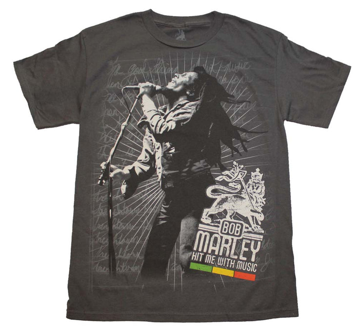 Bob Marley Hit Me T-Shirt - Rockteez Apparel