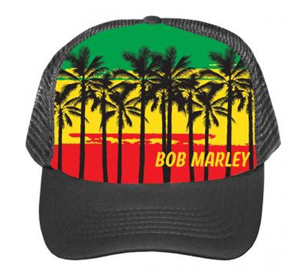 Bob Marley Palms Trucker Hat - Rockteez Apparel