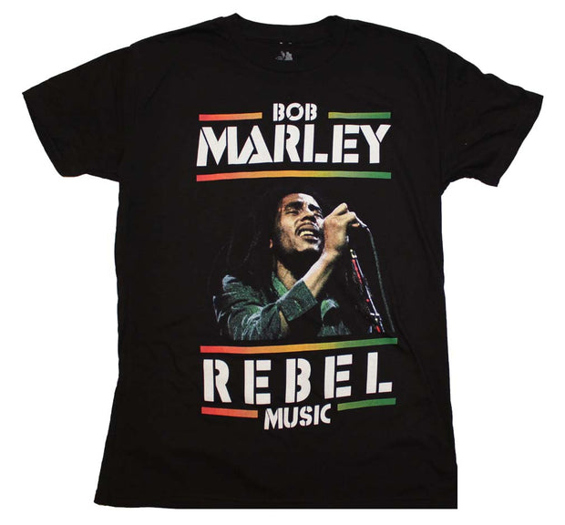 Bob Marley Rebel Music T-Shirt - Rockteez Apparel