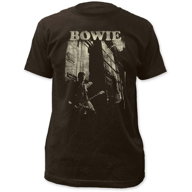 David Bowie Guitar Fitted Jersey T-Shirt - Rockteez Apparel