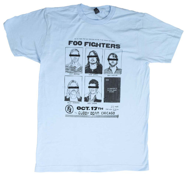 Foo Fighters Cubby Bear Chicago Soft T-Shirt - Rockteez Apparel