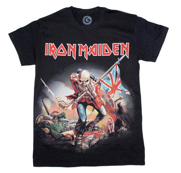Iron Maiden the Trooper T-Shirt - Rockteez Apparel