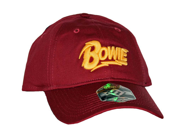David Bowie Red Cotton Dad Hat - Rockteez Apparel