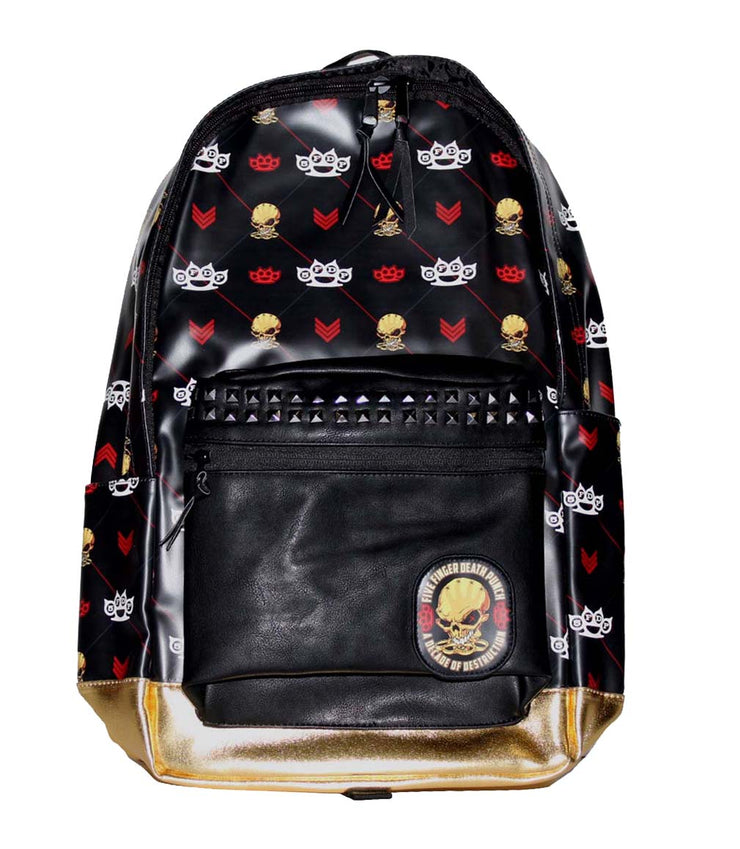 Five Finger Death Punch All Over Backpack - Rockteez Apparel