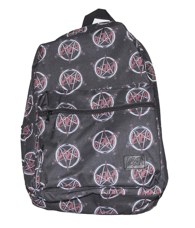 Slayer All Over Logo Print Backpack | Rockteez Apparel